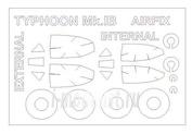 72589-1 KV Models 1/72 Набор окрасочных масок для Hawker Typhoon Mk.IB (двусторонние маски) + маски на диски и колеса