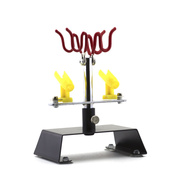 1301 Jas Desktop stand for airbrushes, allows you to place up to 4 airbrushes. Comfortable rubber suction Cup feet will not spoil the surface of the table.