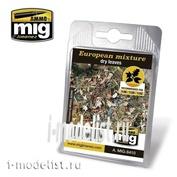 AMIG8410 Ammo Mig EUROPEAN MIXTURE - DRY LEAVES (европейские листья)