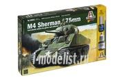 15651 Italeri 1/56 2-я Мировая: Танк М4 Sherman 75мм