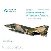 QD48131 Quinta Studio 1/48 3D Декаль интерьера кабины F-4E ранний/EJ (для модели ZM SWS)