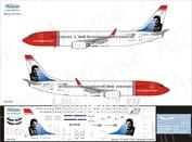738-050 Ascensio 1/144 Декаль на самолет боенг 737-800 (Norwegian (Freddie))