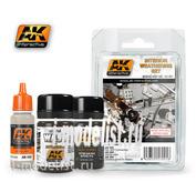 AK-091 AK Interactive Набор жидкостей для нанесения эффектов INTERIOR WEATHERING SET (набор для везеринга интерьеров)