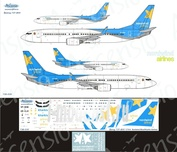 738-035 Ascensio 1/144 Scales the Decal on the plane Boeng 737-800 (Nordwind Airlines BLUE)