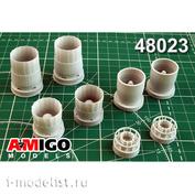 AMG48023 Amigo Models 1/48 Sukhoi-33 engine nozzle AL-31F