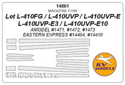 14861 KV Models 1/144 scales a Set of painting masks for the L-410UVP - L410FG