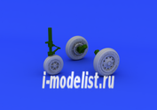648176 Eduard 1/48 Дополнение к модели F-104 undercarriage wheels early
