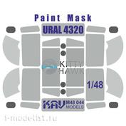 M48 044 KAV Models 1/48 Paint Mask for Ural 4320/APA-5D (Kitty Hawk)