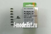 MC135009W MasterClub 1/35 Траки сборные (смола) для Pz.Kpfw.III, StuG III B, 380 мм ранний, 39-40 гг