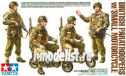 35337 Tamiya 1/35 British Paratroopers w/Small Motorcycle