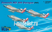 72080 Valom 1/72 MD 450 Ouragan Patrouille de France