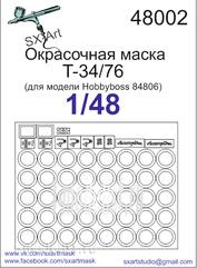 48002 SX-Art 1/48 Painting mask T-34/76 (for hobbyboss 84806 model)