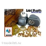 1300 Green Stuff World Инструмент для создания листьев (микс), серый / Miniature Leaf Punch GREY