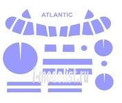 72140 KV Models 1/72 Набор окрасочных масок для остекления модели Breguet Atlantic