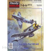 MM 7-8-9/2012 Maly Modelarz Jak-9M & Fw 190 A-8