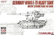 UA72136 Modelcollect 1/72 Germany WWII E-75 Heavy Tank with 128mm Flak 40 Gun