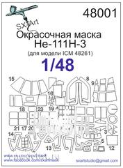 48001 SX-Art 1/48 Paint mask He-111H-3 (for model ICM 48261)