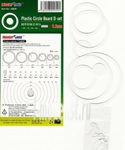 09949 Trumpeter Набор пластиковых кружков и колец Plastic Circle Board D-set - 0.3mm .Plastic Circle Board Thickness:0.3mmLoop and disk , 17 kinds in total