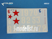 48010 ColibriDecals 1/48 Decal for I-16 67 IAP