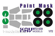M72 039 KAV models 1/72 Paint mask  produced by Italeri (Zvezda, Modeler). Mask for painting the glazing of the cabin and chassis.
