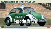 20251 Hasegawa 1/24 VW Beetle Police Car Limited Edition