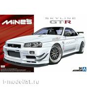 05986 Aoshima 1/24 Nissan Mine's BNR34 Skyline GT-R '02