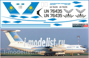 76-01 PasDecals Decal 1/144 Scales on Il-76 of KAZAKHSTAN