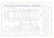 72539 KV Models 1/72 Набор окрасочных масок для Fairey Fulmar Mk.I + маски на диски и колеса
