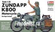 56006 Vulcan 1/35 1/35 WW2 German Zundapp K800 Motorcycle