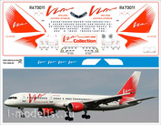 757-200-01 PasDecals 1/144 Laser decal with white print elements Boeing 757-200 Vim-avia
