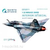 QD32011 Quinta Studio 1/32 3D Mirage 2000B Cabin Interior Decal (for Kitty Hawk model)