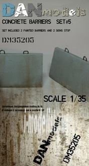 DM35205 DANmodel 1/35  Бетонные заграждения (серые треугольные)
