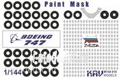 M144 010 KAV models 1/144 Paint mask on Boing 747-8 (Zvezda)