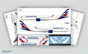 359-010 Ascensio 1/144 Scales the Decal on the plane Arbus A350-900 Aeroflot Russian Airlines