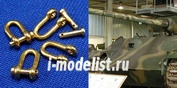 07774 RB model 1/35 Shackles (4 pcs) Used in different military vehicles    Буксировочные петли