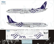 738-024 Ascensio 1/144 Scales the Decal on the plane Boeng 737-800 (SkyTeam (Aeroflot-Russian Airlines))
