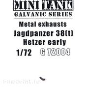 72004 MINITANK 1/72 Выхлопной патрубок для Jagdpanzer 38(t) Hetzer ранних выпусков