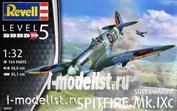 03927 Revell 1/32 Британский истребитель Spitfire Mk. IXC времен Второй Мировой
