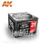 RCS021 AK Interactive Набор акриловых красок Real Colors NATO COLORS SET