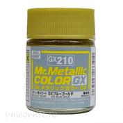 GX210 Gunze Sangyo Краска Mr.Hobby Mr.Metallic Color GX: Сине-золотой металлик, 18 мл.