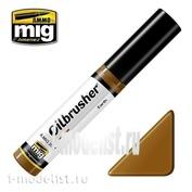 AMIG3514 Ammo Mig EARTH (Масляная краска с тонкой кистью аппликатором)