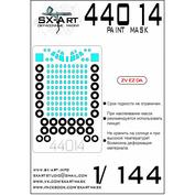 44014 SX-Art 1/144 Окрасочная маска Туполев-154 (Звезда)
