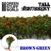 9930 Green Stuff World Высокий кустарник - коричнево-зеленый / Tall Shrubbery - Brown Green
