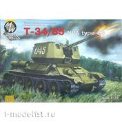 7210 Military Wheels 1/72 Танк Т-34/85 на NVA тип 63