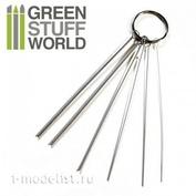 1410 Green Stuff World Набор для чистки аэрографа / Airbrush Nozzle Cleaning Wires