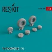 RS48-0189 RESKIT 1/48 Смоляные колеса для ПЕ-2