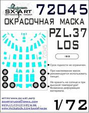 72045 SX-Art 1/72 paint mask for PZL.37 Los (IBG)