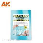 AK8096 AK Interactive Строительная пена 6 мм - голубая пена высокой плотности, 195 x 295 мм