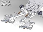 N35000 Zedval 1/35 Катковый трал КМТ-7 (поздний вариант)