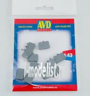 AVD143011610 AVD Models 1/43 Чемодан мягкий, 10 шт